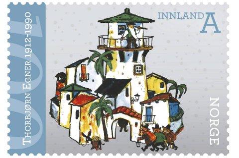 Thorbjørn Egner hedres med nye frimerker.