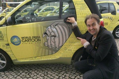 GULL: RB-tegner Egil Nyhus fra Jessheim fikk gull under en prestisjefylt konkurranse for verdens avistegnere.