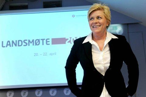 Mot tolv blanke stemmer ble Siv Jensen gjenvalgt som Fremskrittspartiets leder.