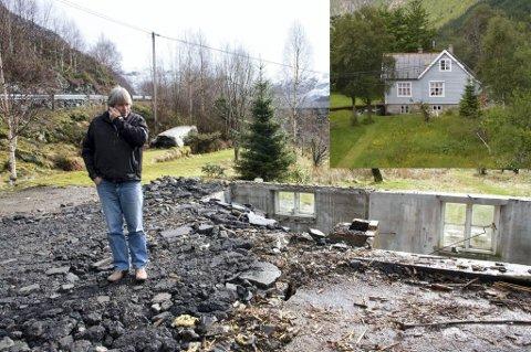 Då Arild Gjervik også måtte skifte taket, kom det eit forferdeleg regnvêr og vatnet fossa inn i huset.