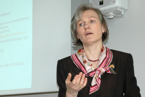 Generalsekretær Elisabeth Gammelsæter i Norsk Bergindustri.