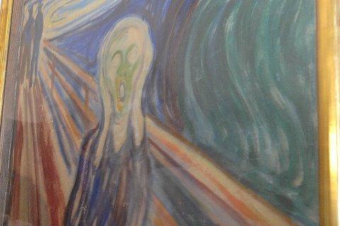Det er knyttet stor spenning til salget av et Skrik-maleri. Her maleriet som ble stjålet i Oslo for noen år siden.