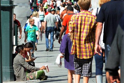 Høyre vil ha forbud mot tigging. (illustrasjonsfoto).