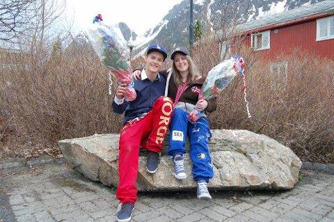 Aldri mer: Jan Øyvind Westby og Tiril Karlsen sier russetida har vært den beste tida i livet deres, men er glad den er ferdig. (Foto: John Christian Nygaard)