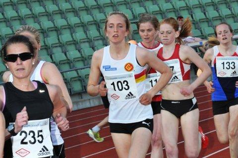 Frida Berge havna på fjerdeplass etter 1500 meter i Sveits. (Arkivbilde).