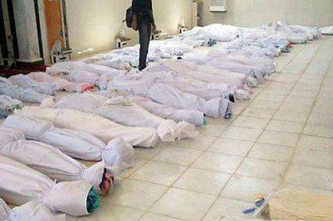 Minst 108 mennesker ble drept i massakren fredag og lørdag.