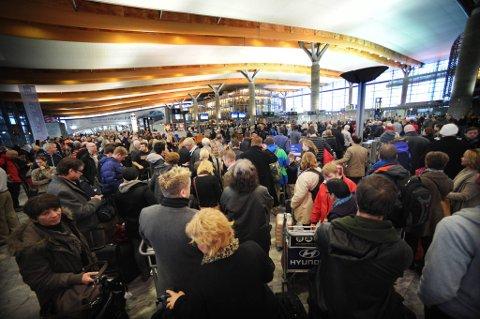 En eventuell streik vil få store konsekvenser for en rekke flyplasser. Hele luftfarten vil i praksis bli rammet. Bildet er fra Gardermoen.