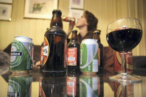Danske ungdommer drikker mest. Illustrasjonsfoto.