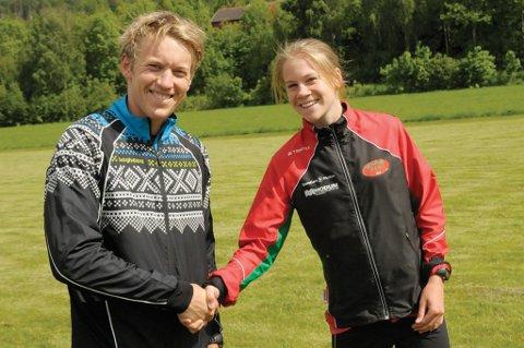 ? Gratulerer med seieren, sier Heidi Mårtensson til Per Kristian Nygård som kunne svare: Takk det samme etter Dokka Opp lørdag.