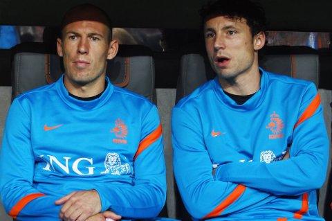 Arjen Robben og Mark van Bommel.