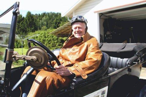 En spent Ove Jan Svendsrud er klar for å kjøre sin egen T-Ford fra 1926 på langs av hele Norge.