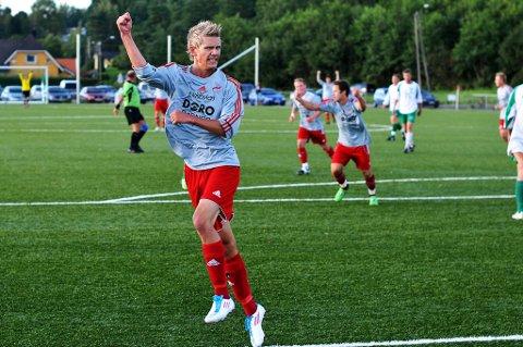 Sondre Hjertaas scoret to ganger i torsdagens storseier for Greåker.