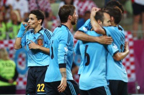 Jesus Navas har nettopp punktert kampen, og Spania sender tapre kroater ut av EM.