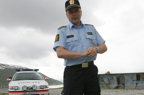 TRIST:  Sier Geir Marthinsen, distriktsleder i Utrykningspolitiet.