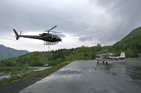 Her er helikopterpiloten utført oppdraget sitt.