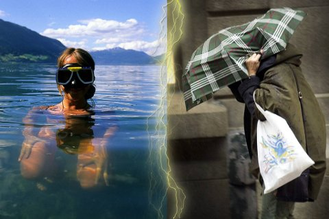 Det har vært vått og varmt i Norge i år.
