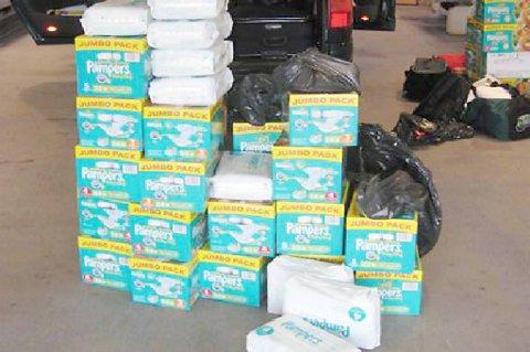Tollere beslaglegger stadig store mengder bleier som blir forsøkt å smugle ut av Norge.