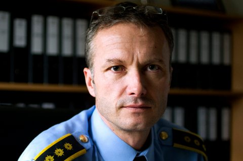 TROLIG UTLENDINGER: Lensmann Trond Øren sier politiet ennå ikke har sikker identitet på de to omkomne. FOTO: ROAR GRØNSTAD