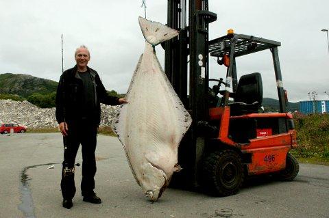 Ivan Olsen tok ei kveite på 134 kilo utenfor Sandhornøy.