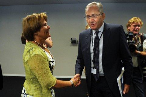 Justisminister Grete Faremo  presenterte Kripos-sjef Odd Reidar Humlegård som ny konstituert politidirektør fredag.