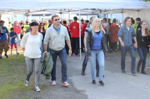 Kristine Svendsen og Yngve Halseide var blant de aller første som inntok Parken.