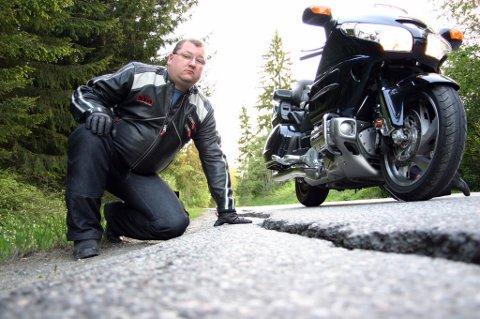 SEIER: Norsk Motorcykkel Union har presset på veivesenet, og styremedlem Tommy Kragseth Hansen tar rutineendringene som en seier. Foto: Trond Henriksen