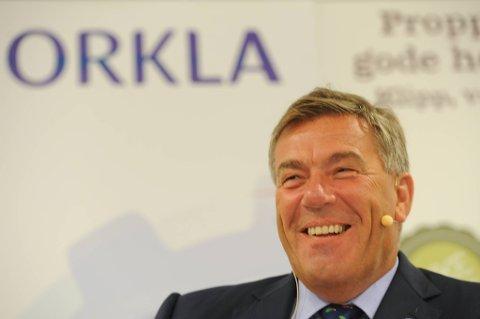 Styreleder i Orkla, Stein Erik Hagen, kan glede seg over et godt resultat for tredje kvartal.