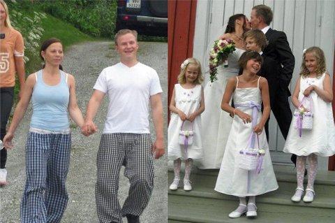 Våknet uvitende opp til sin egen bryllupsdag. Bare noen timer senere inngikk samboerparet ekteskap. Foto: Privat