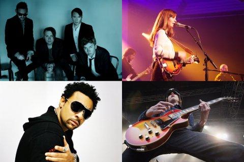 Kent, Marit Larsen, Shaggy og Turboneger spiller alle på torsdag.