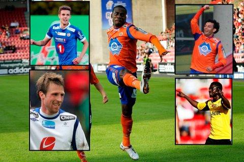 Remi Johansen, Tremaine Stewart, Michael Barrantes, Håvard Storbæk og Ernest Asanter er kandidatene det kan stemmes på denne gang.