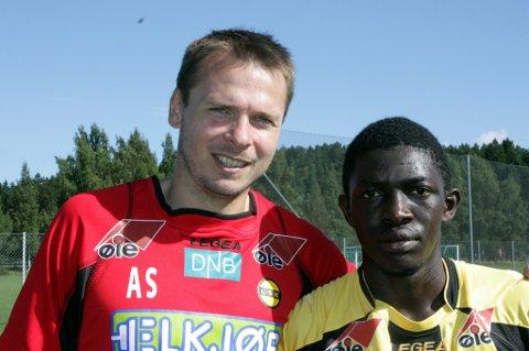 ARVTAKER: Arild Sundgot håper Moryke Fofana kan ta opp arven etter ham og score mange mål for LSK. Begge foto: Per Kristian Torvik