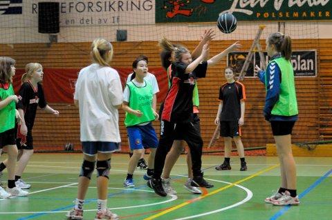 Over 30 barn og unge fant veien til HBBKs basketskole i Ringerikshallen.