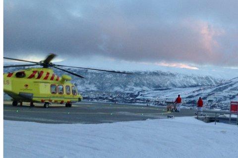 Her har helikopteret med den fireårige gutten landet på UNN.