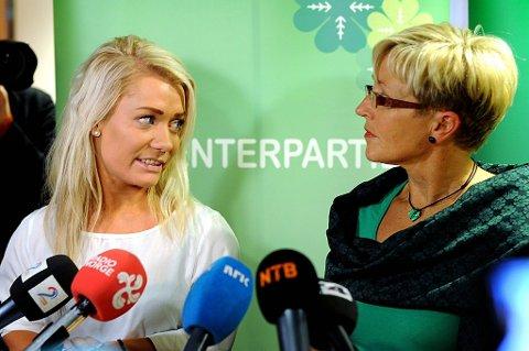 Liv Signe Navarsete mener Senterungdommens leder Sandra Borch kan bli en politisk stjerne.