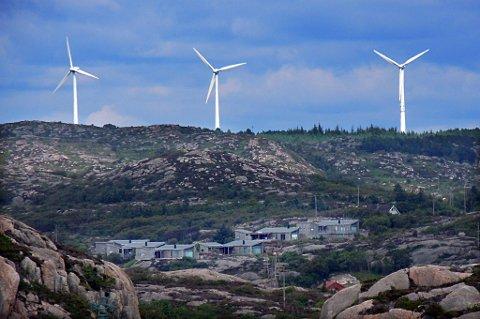 Kamp for vindmøller: Bellona-leder Frederic Hauge kjemper for flere vindmøller. Her er Fjeldskår vindmøllepark ved Lindesnes.