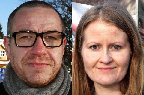 DIALOG: Tom Staahle, Frp. og Trude Isaksen i Jernbaneverket.