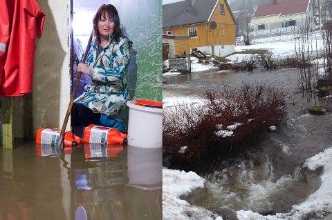 For tredje gang må varaordfører Greta Solfall se vannet flomme inn i huset.