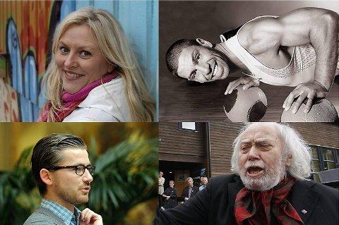 """Desse fire er nominerte til kåringa """"Noregs mest sexy nynorskbrukar""""."""