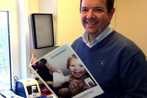 Christian Mide satser på nye helserelaterte oppfinnelser gjennom sitt eget firma, ConceptoMed.