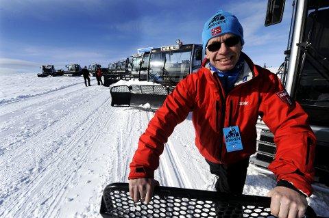 Beredskap: Løypesjef Tor Skraastad har ni løypemaskiner og beredskap for alle scenarier. Blir det snøvær står mannskaper klare til å snørekjøre bak skutere.