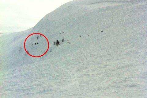 SKREDUTSATT: Djevelberget, ikke langt ifra skitrekket i Kroken, er å regne som svært skredutsatt.