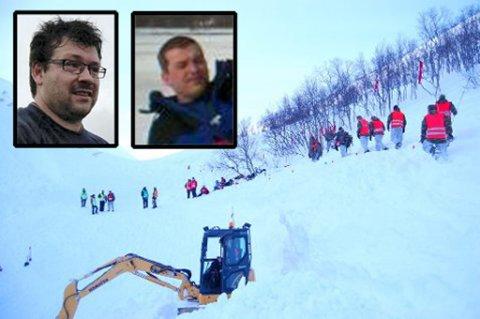 Det var brødrene Robert Mortensen (t.v) og Anders Mortensen som ble funnet søndag.