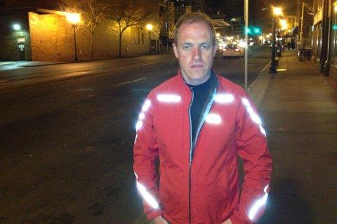Ingulf Nordahl fra Sortland i gatene i Boston nooen timer etter terroraksjonen.