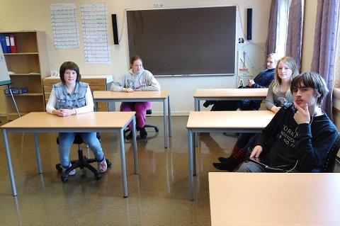 Josefine Ditlevsen (15), Sandra Margrethe Hammer (15), Morten Svendsen (15), Tonje Karlsen (15) og Henrik McLean (13) på 10. og 8. trinn på Bolga skole, sier de kjente jordskjelvet veldig godt. - Vi trodde det gikk et ras fra Bolga-fjellet, sier Josefine.