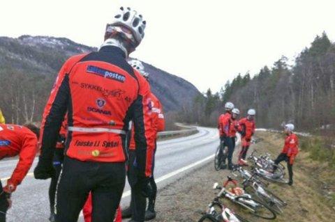 To syklister fra Fauske IL havnet på sykehuset etter en episode på Langsandmoen i Saltdal.