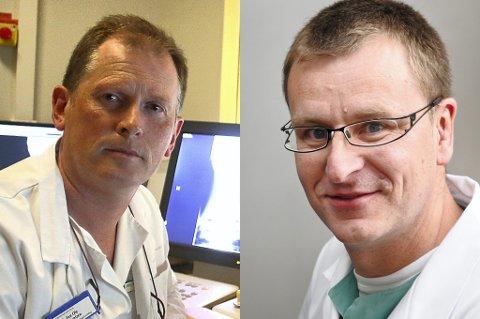 I et brev slår seksjonsoverlege på røntgenavdelingen, Jan Ole Frantzen, og seksjonsoverlege ved anestesiavdelingen?Jon Harr, alarm.