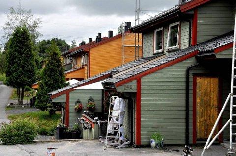 Sterke farger og meninger: I Grasto borettslag i Sarpsborg er det strid om fargevalget på boligene.