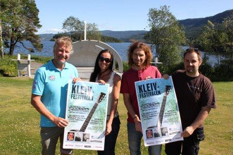 Helge-Ivar Fredriksen, Kari Gresaker Teigland, Øystein Hagen og Ivan  Makedonov med et spennende festivalprogram.