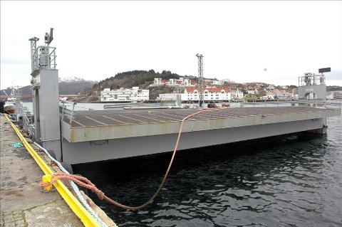 «Linkspan II» som ligger ved Nordlandskaia i Kristiansund kan bli redningen for Todalingene. Arkivfoto