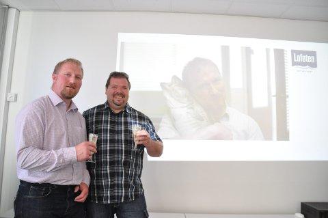 Leif Leite og Roger Solberg er stolte og glade over å få være med som skuespillere i millionsatsingen til Lofoten.